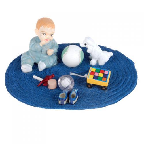 1/12 Dollhouse Miniature Baby Cushion Set Blue PP010B