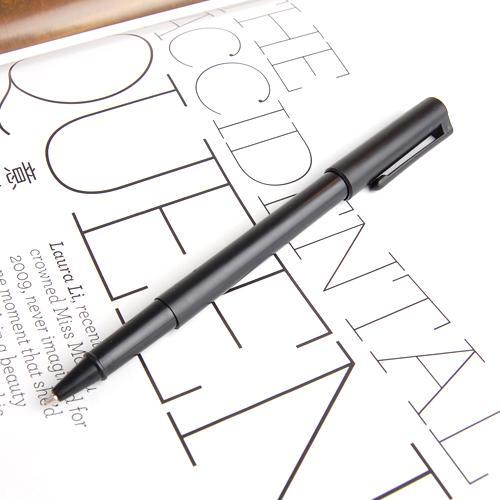 Black Plastic Magic Trick Ball Pen Thru Bill Penetration Toy