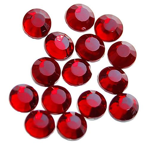 20 Gross / 2880pcs Hot Fix Flatback Rhinestones Iron On 3.8 - 4mm - Dark Red