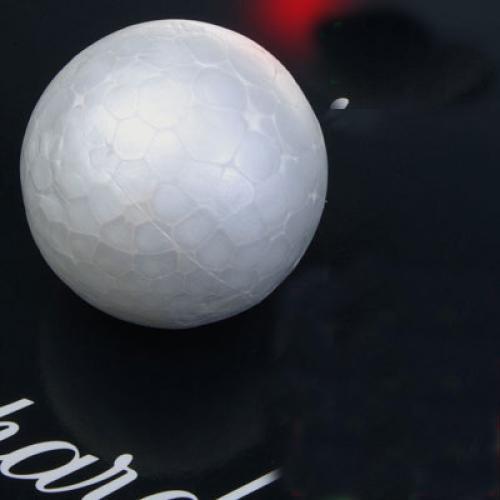 10 x 6cm White Modelling Craft Polystyrene Foam Ball Sphere