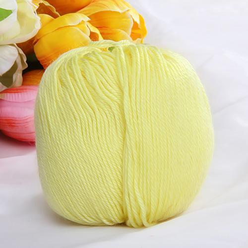 1 Skein Ball Soft Yellow Knitting Yarn 50g For Baby