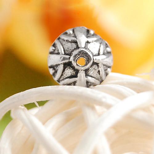 50pcs Tibet Silver Half Round Bead Caps 9mm