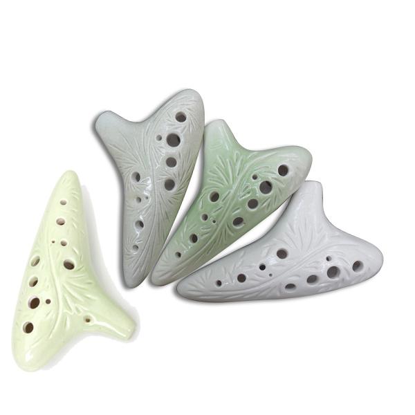 12 Holes Alto C Ceramic Ocarina Flute w/ Pattern