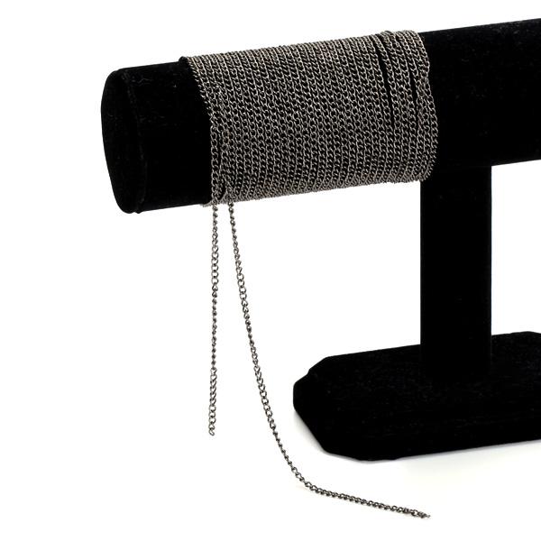 5M Black Curb Chain Findings