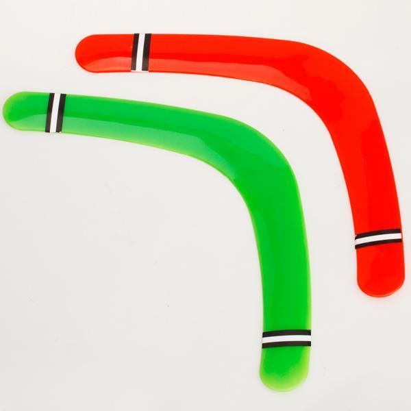2pcs Plastic Boomerang Frisbee Toy