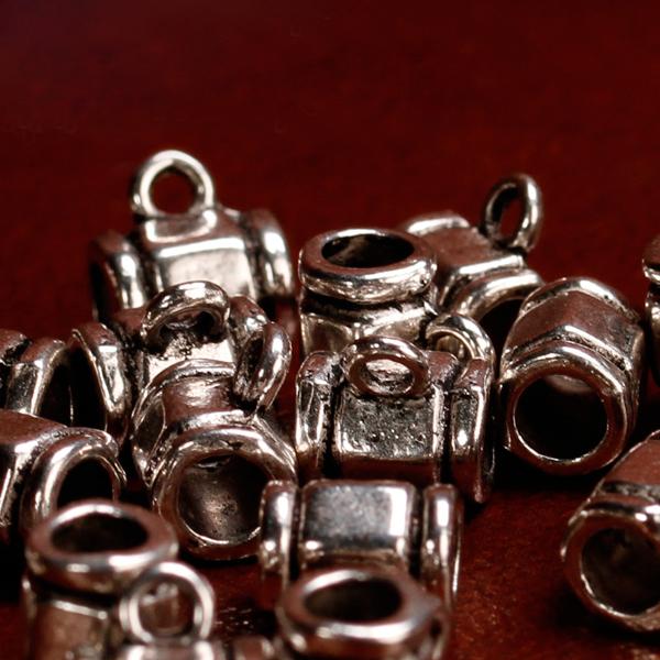20pcs Antique Silver Hanger Spacer Beads