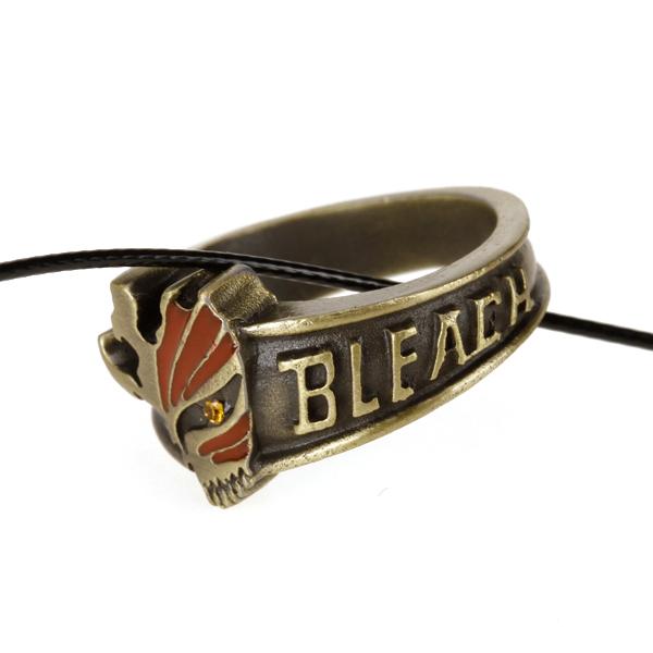 Bleach Ichigo Hollow Mask Ring Pendant Necklace Anime Cosplay