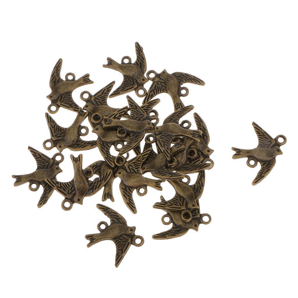 20pcs Antique Bronze Bird Connectors Jewelry Findings