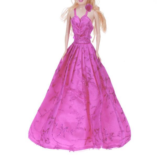 Barbie Doll Princess Wedding Gown Dress Shocking Pink