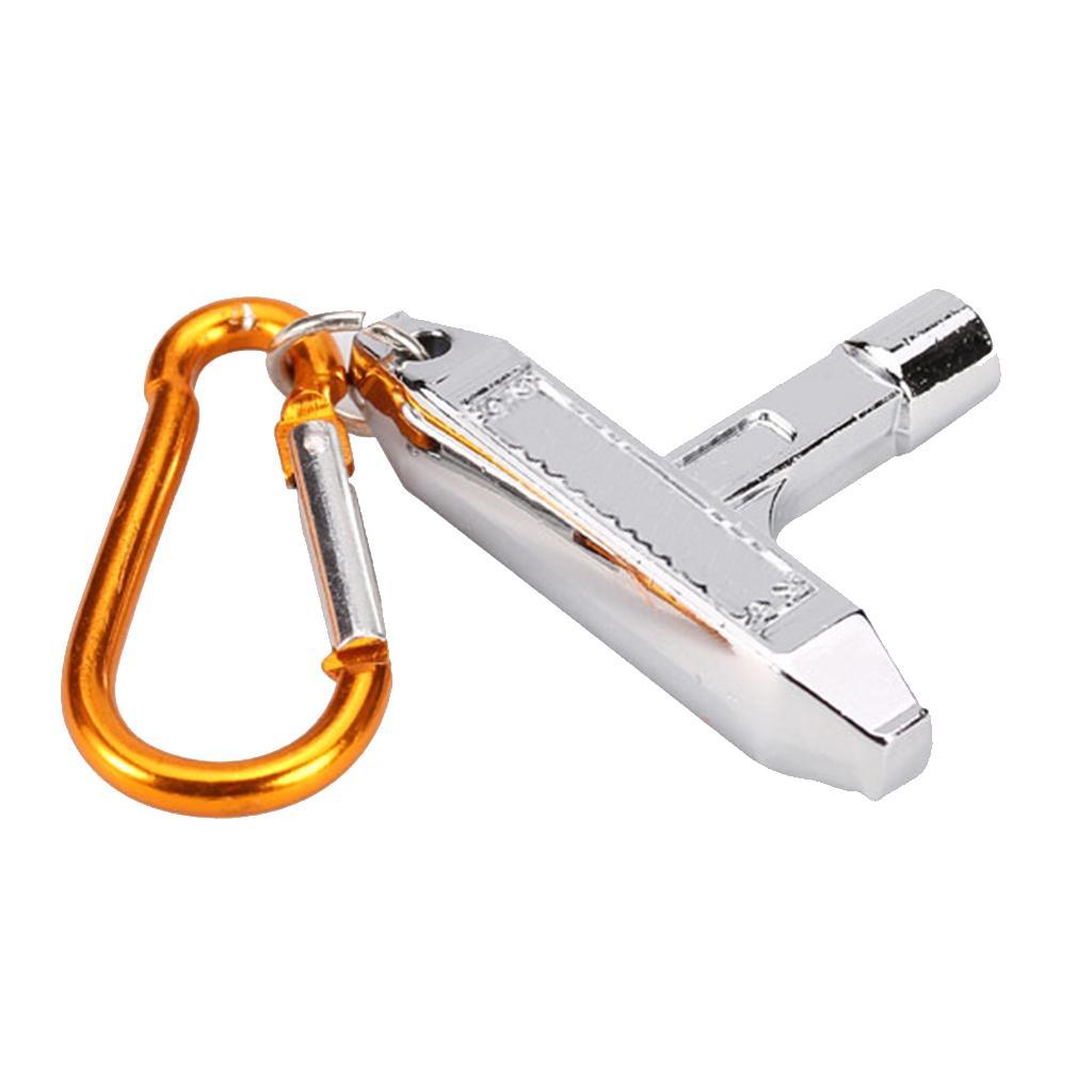 Silver Drum Skin Tuning Key w/ Carabiner