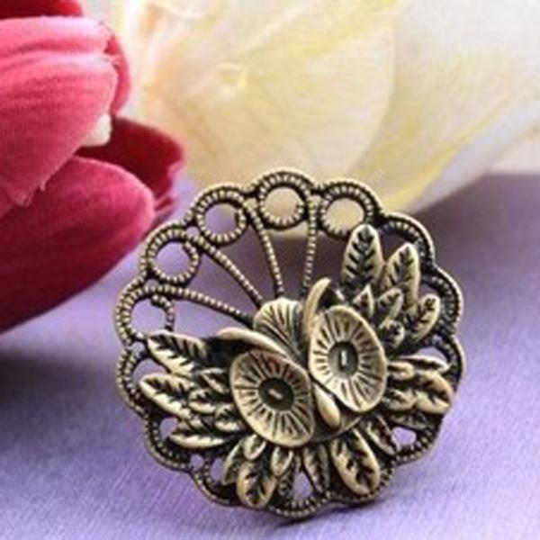 Vintage Round Owl Ring
