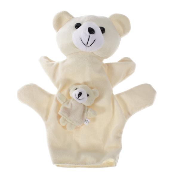 Beige Bear Hand Puppet Finger Puppet