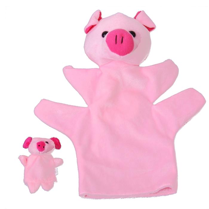 Pink Pig Hand Puppet Finger Puppet