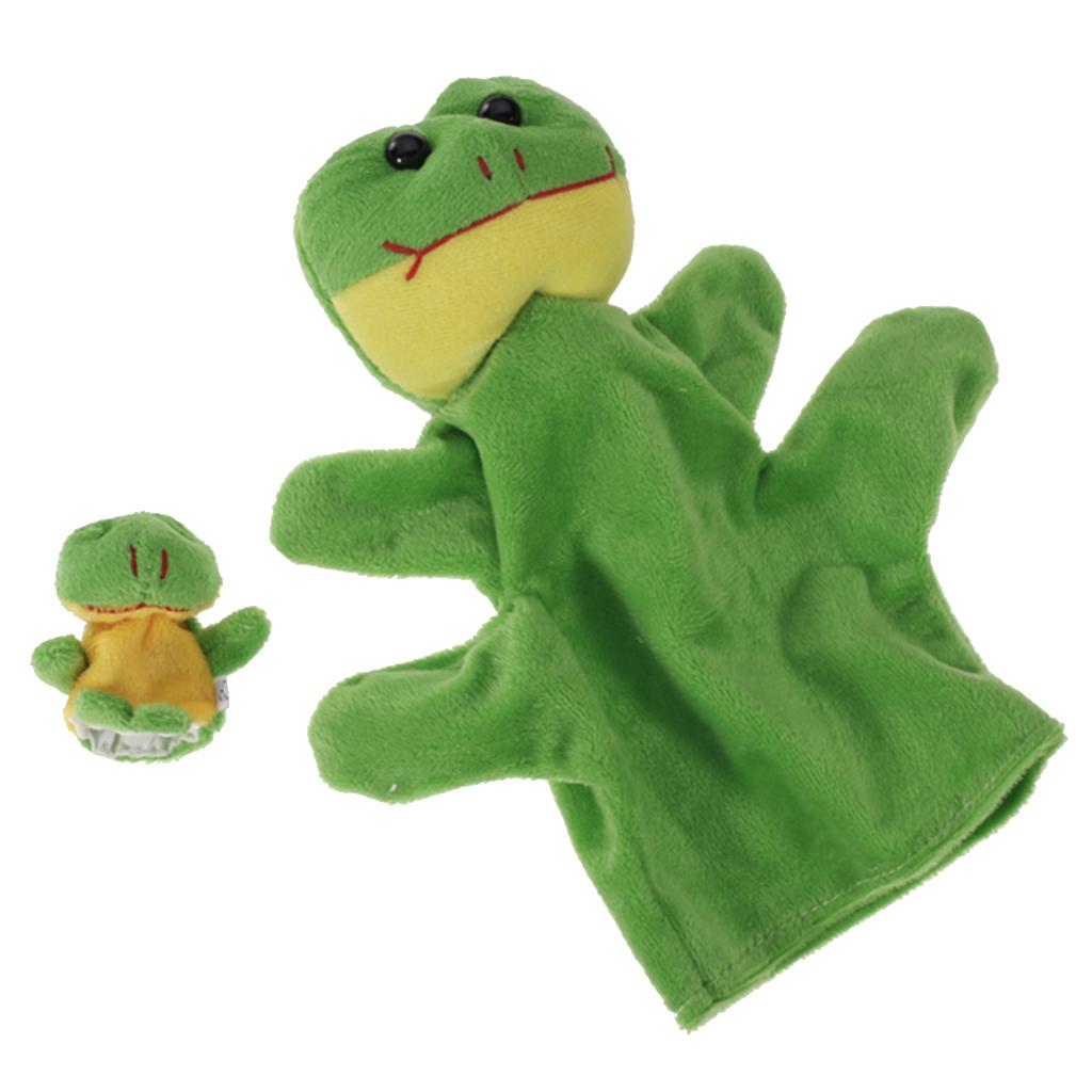 Green Frog Hand Puppet Finger Puppet
