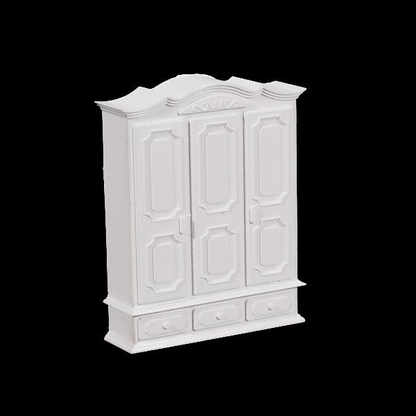 1pc Model Kit Furniture Clothes Wardrobe 1:30 w/ Drawers