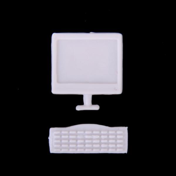 10pcs Model Computer Monitor and Keyboard 1:25