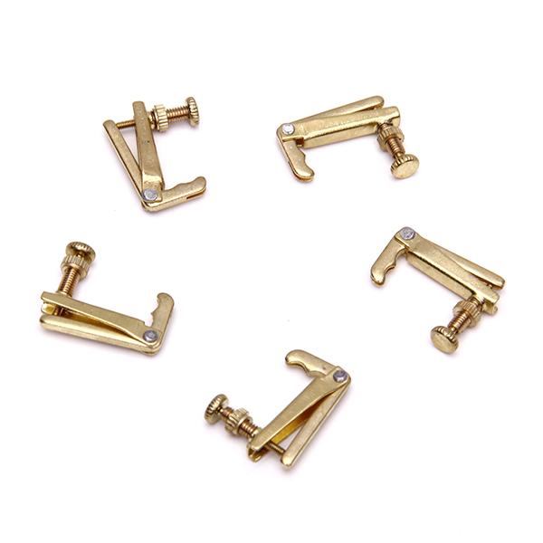 Set of 5 Brass Violin String Adjuster Fun Tuners Golden 3/4 4/4 Violin