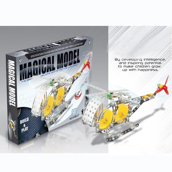 DIY Model Kit Metal Plastic 147pcs Airplane Aircraft