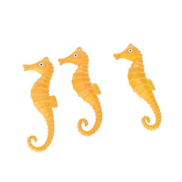 3pcs Animal Model Sea Horse Model Toy