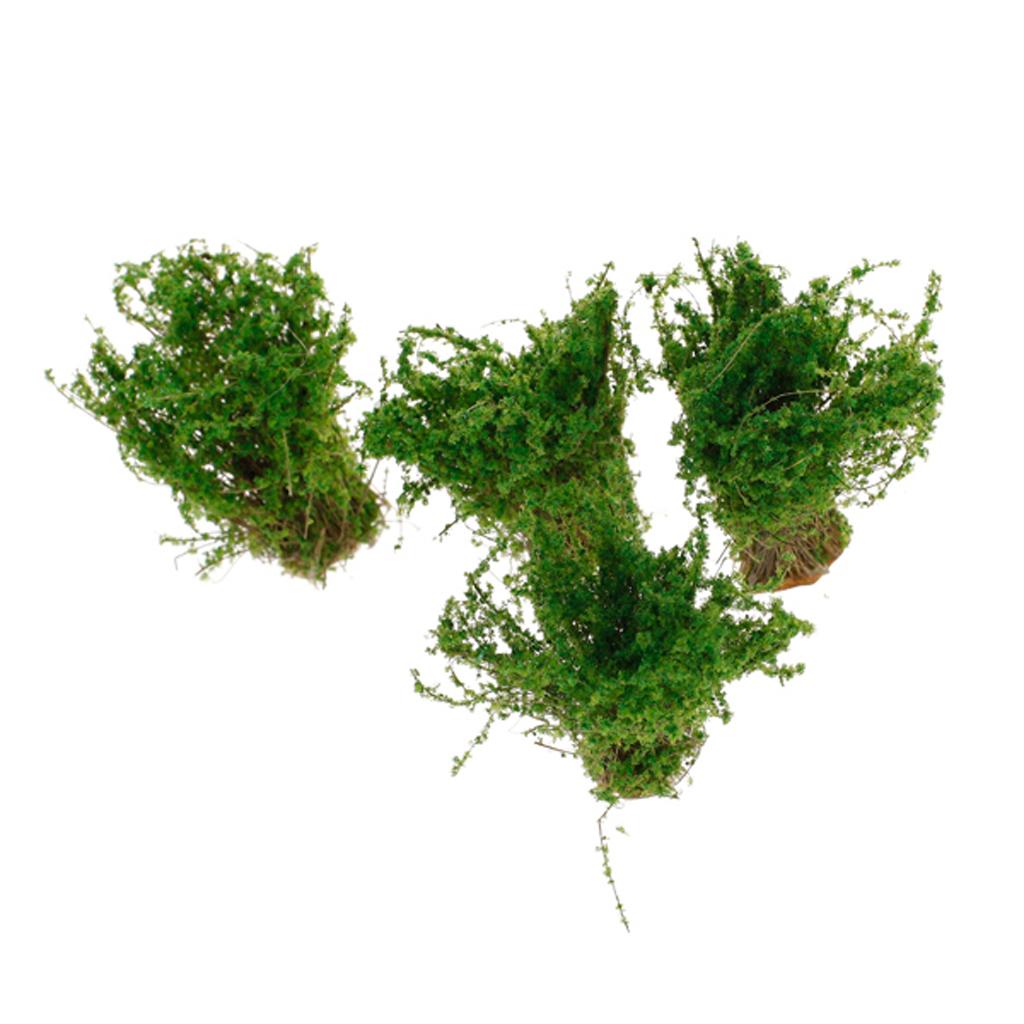 4pcs Scenery Landscape Model Ground Cover Flower Grass Model Green