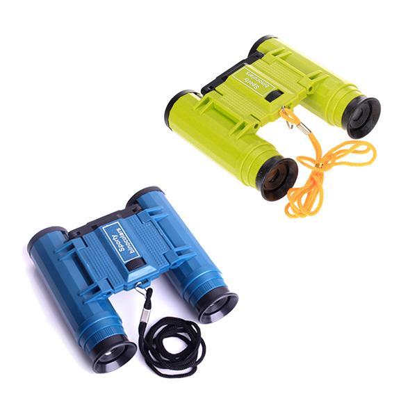 4 x 28mm Folding Binoculars Observing Telescope Toy for Children w/ Neck Strap