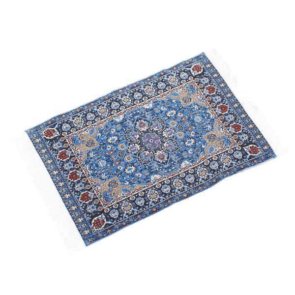 "Dollhouse Miniature Embroidered Carpet 6 1/2"" x 3 7/8"""