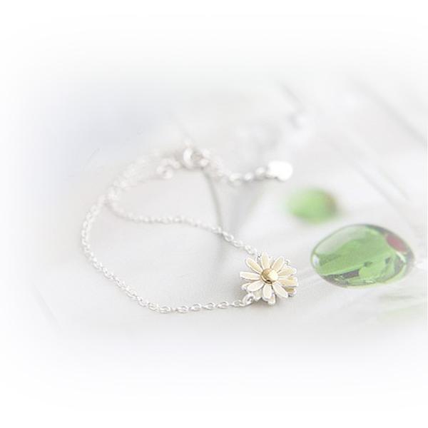 Korea Fashion Cream Oil Spot Daisy Chain Bracelet