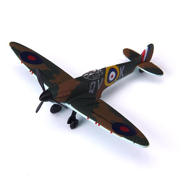 Vintage Combat Spitfire Military Jet Airplane Model 1:100