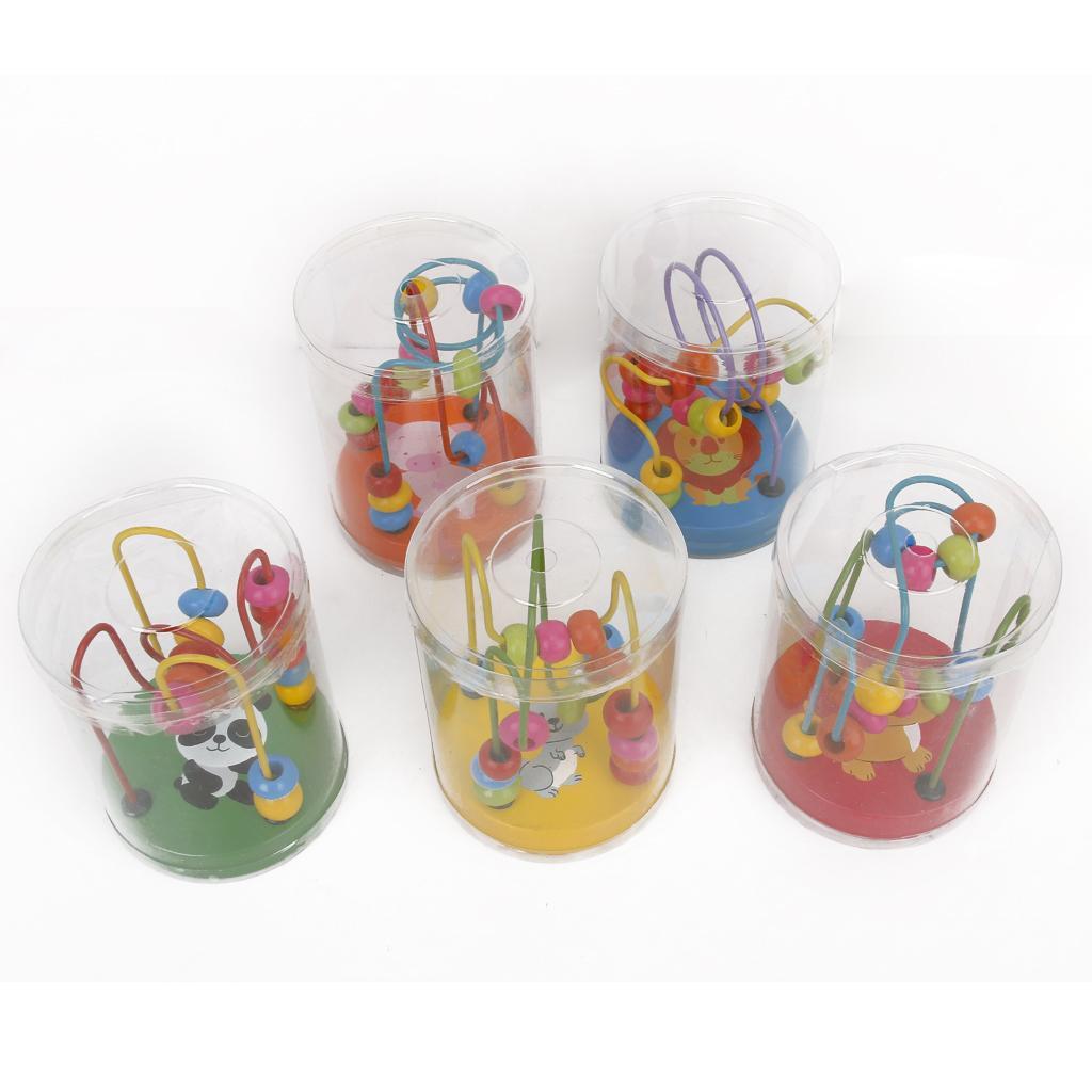 Wooden Cartoon Pattern Beads Kids Educational Toy