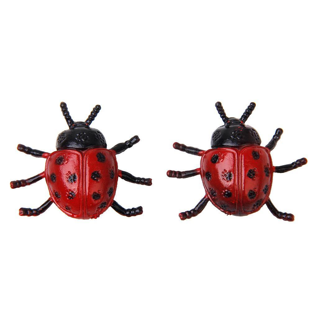 2pcs Ladybird Ladybug Toy Insect Animal Lovely Kids Home Decoration