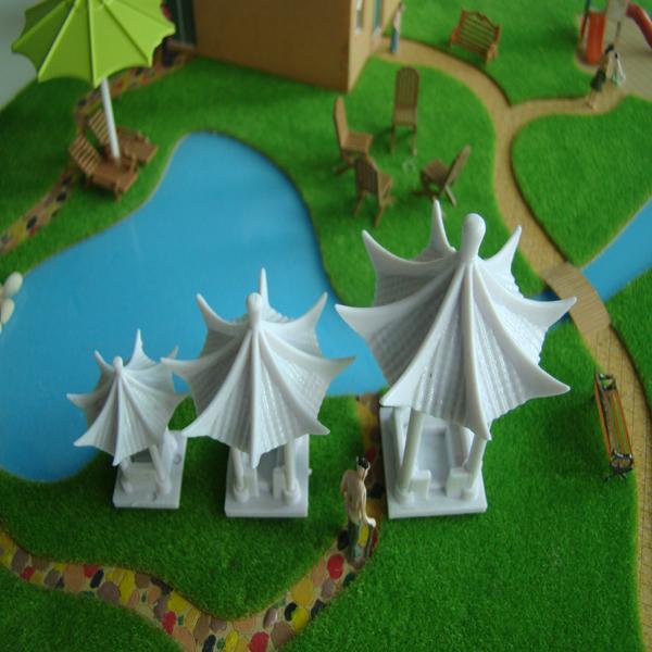 3pcs Emulation White DIY Model Arbour 8 Corner Arbour Toy