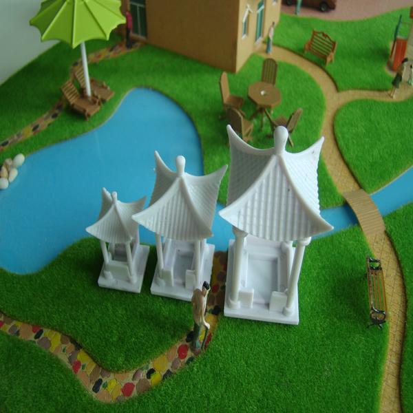 3pcs Emulation White DIY Model Arbour 4 Corner Arbour Toy