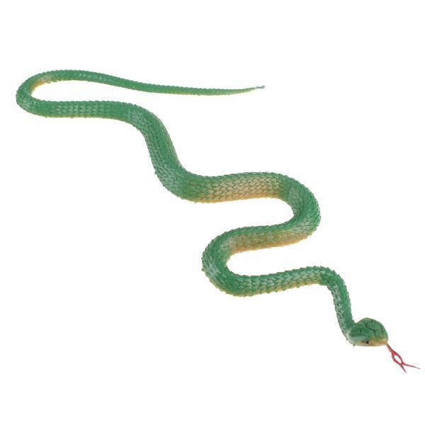 Green Soft Plastic Snake Pretend Trick Toy Garden Props