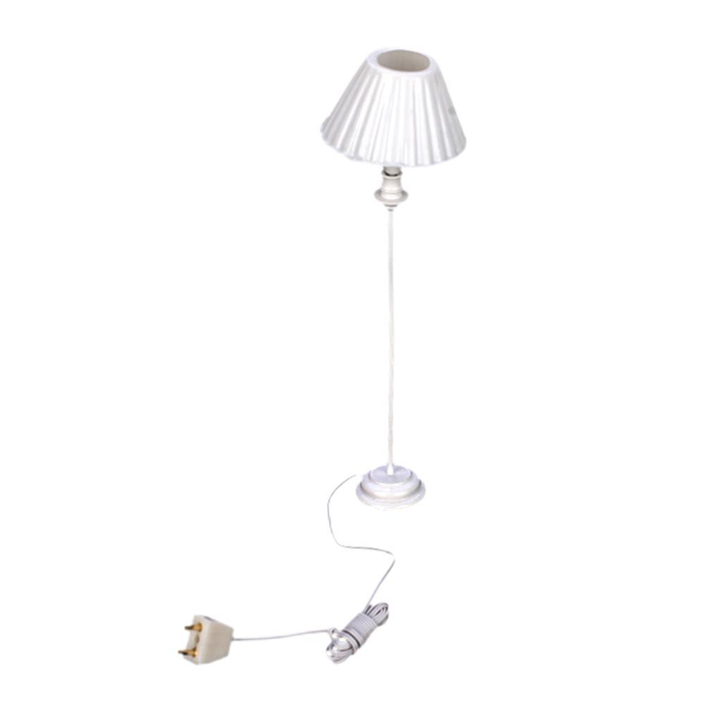 Shell Shade Floor Lamp Light 1:12 Dollhouse Miniature