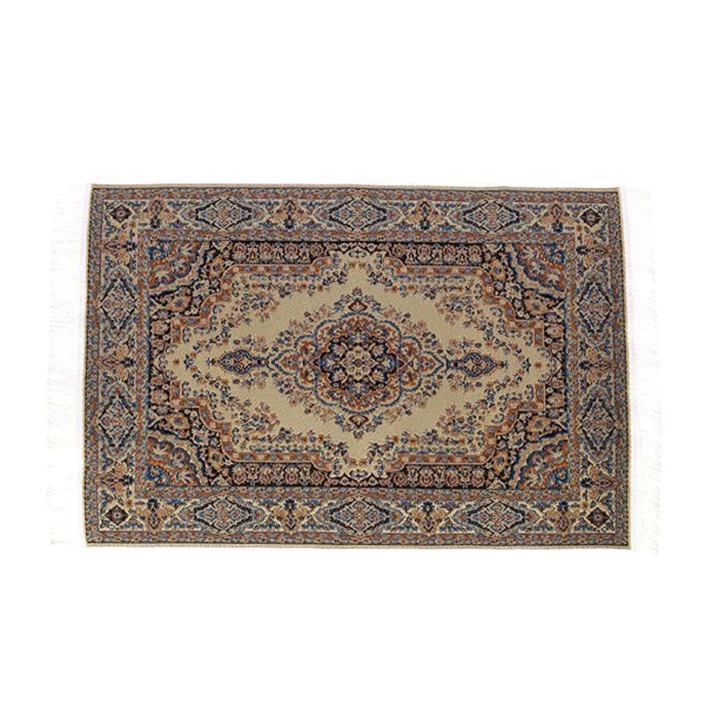 1:12 Dollhouse Carpet Miniature Fashion Doll Woven Carpet 24.2 x 15cm