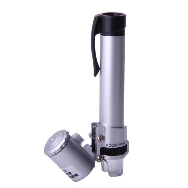 LED Pen-shaped 100X Jewelry Pocket Microscope Magnifier Loupe