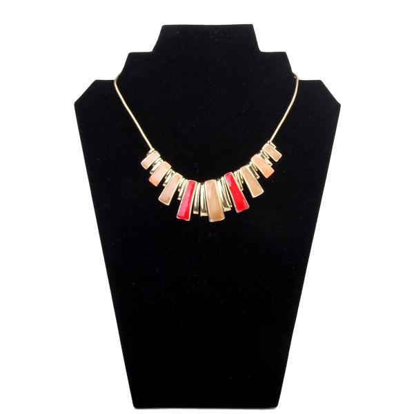 Alloy Colorful Rectangle Pendant Glazed Enamel Adjustable Necklace