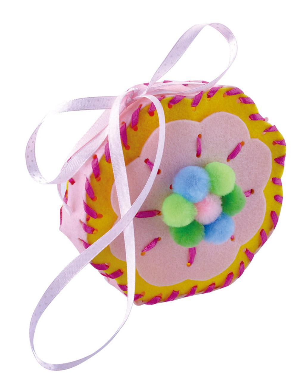 DIY Felt Fabric Bag DIY Craft Kits for Kids Children - Flower Shaped Bag
