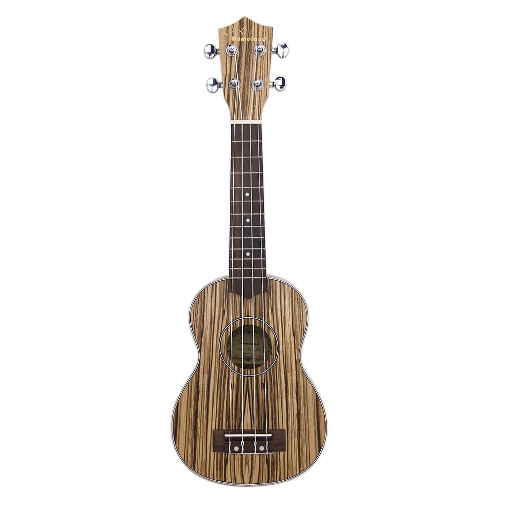 21 Inch Small Hawaiian 4 String Ukulele Guitar - Mahogany wood