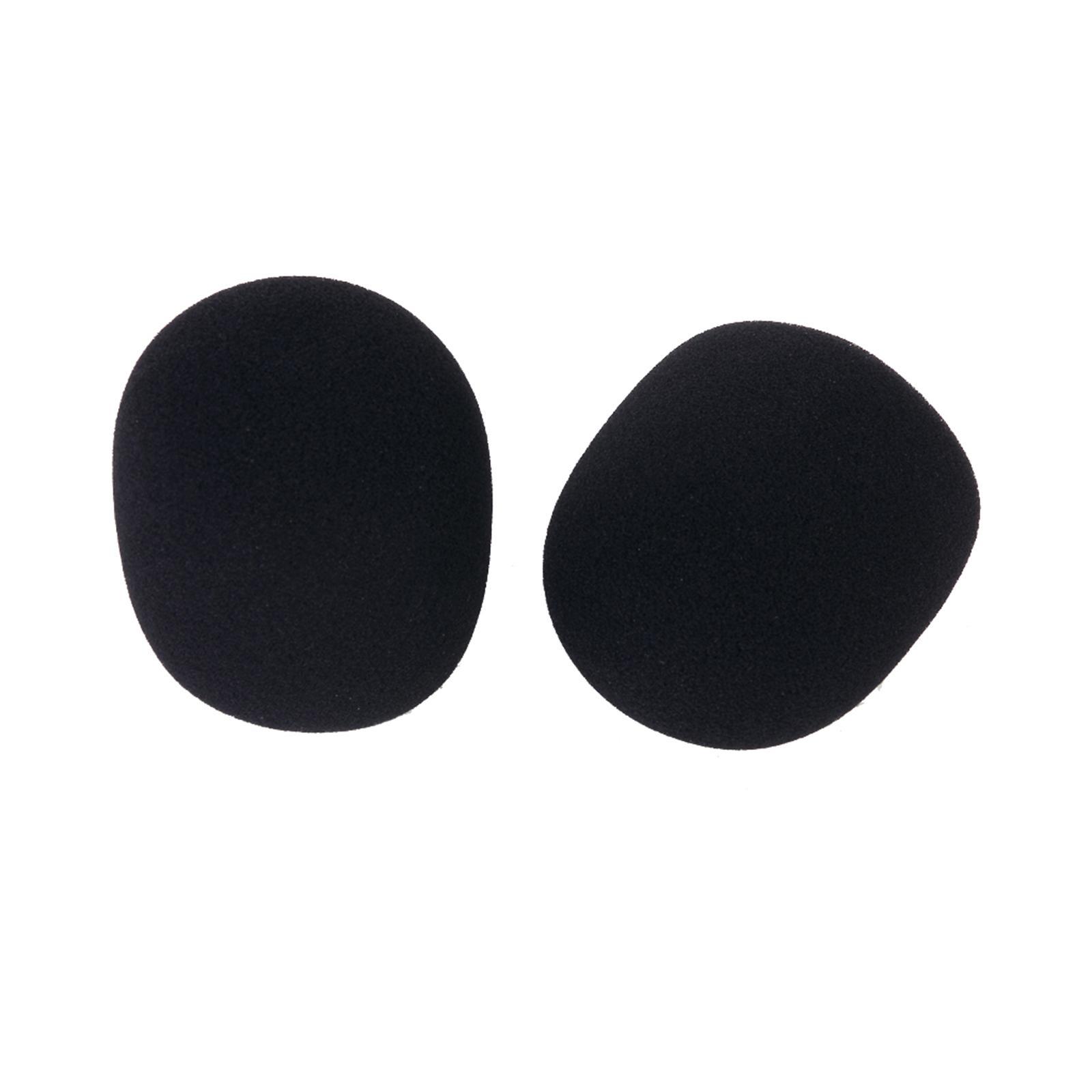 2 Pcs Studio Microphone Foam Mic Shield Cover Black