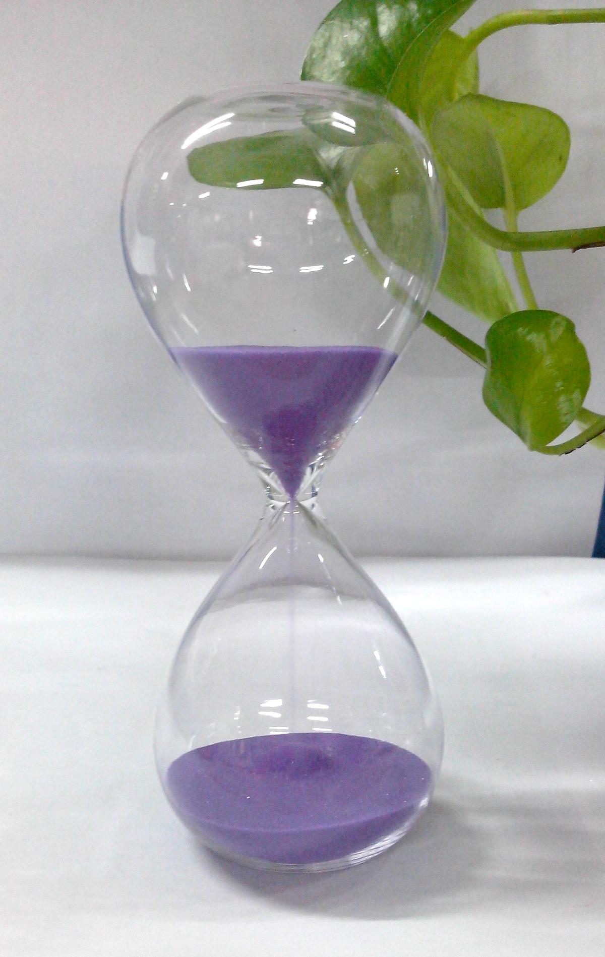 15 Minutes Hourglass Sandglass Sand Timer Purple