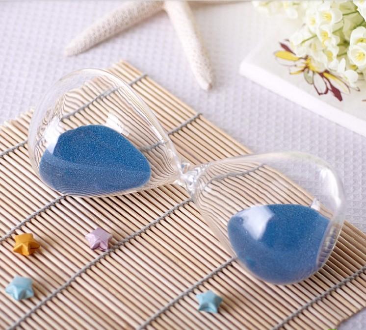 15 Minutes Hourglass Sandglass Sand Timer Blue