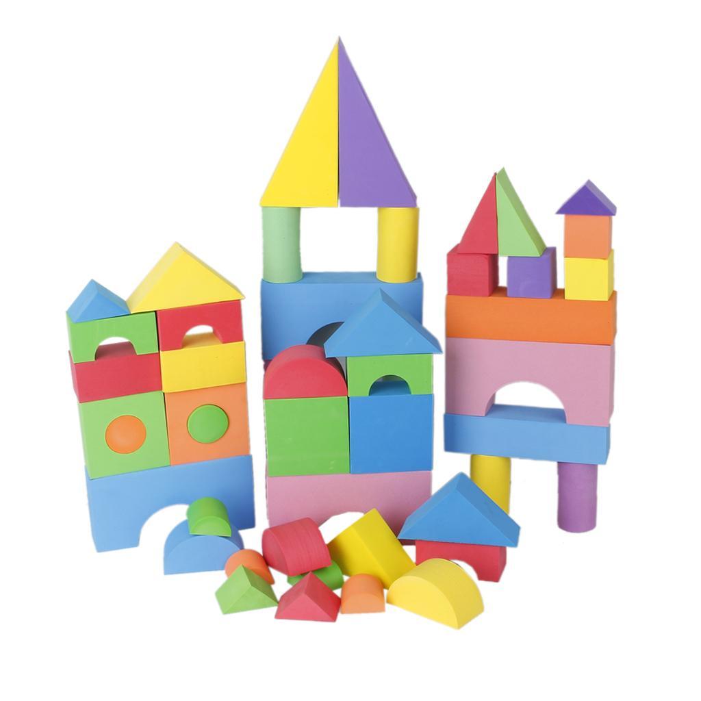 48 Pcs Multi-color EVA Foam Building Blocks