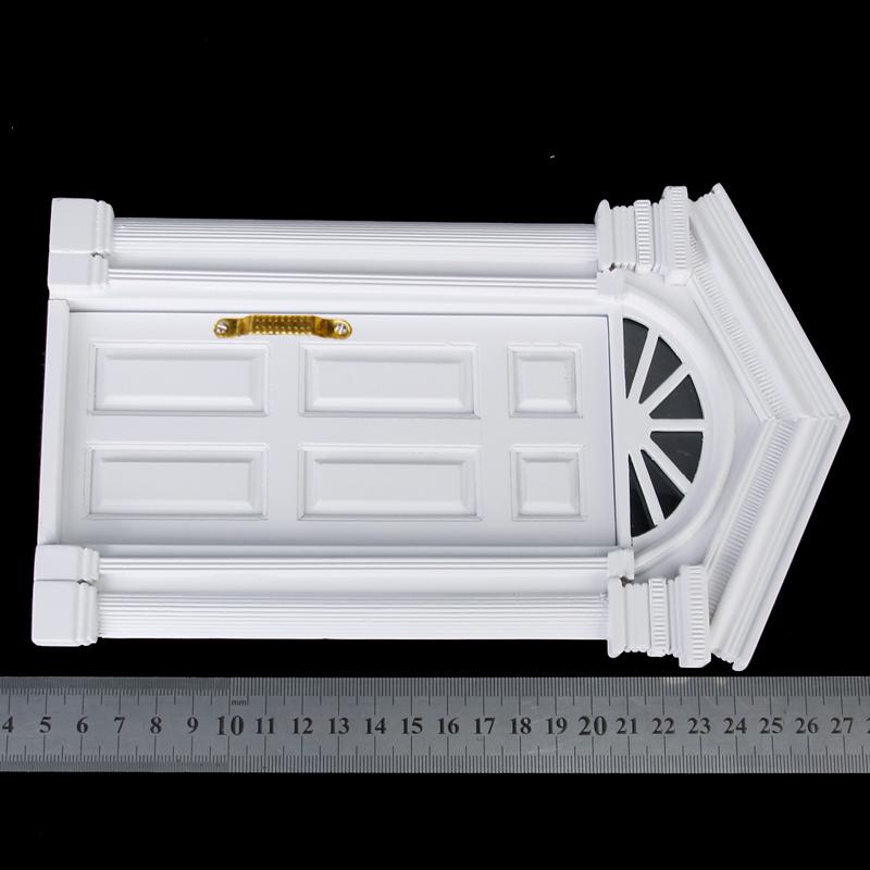 1 12 dollhouse miniature luxury wooden white exterior door for 12 pane exterior door