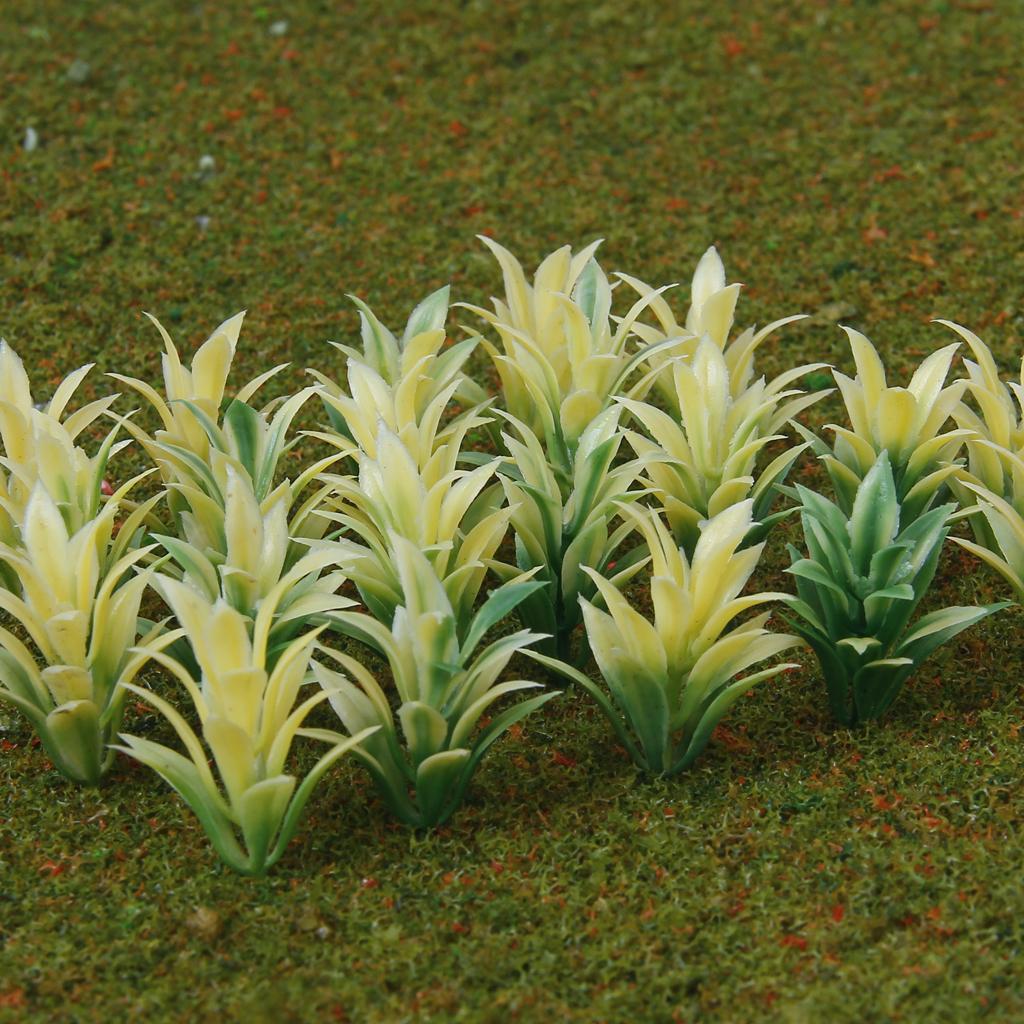 100 Pcs Flowering Plants Scenery Landscape Scale 1:100 Yellow
