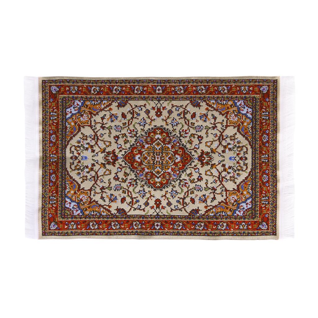 Miniature 1:12 Dollhouse Woven Rug Floor Carpet 24 x 15cm