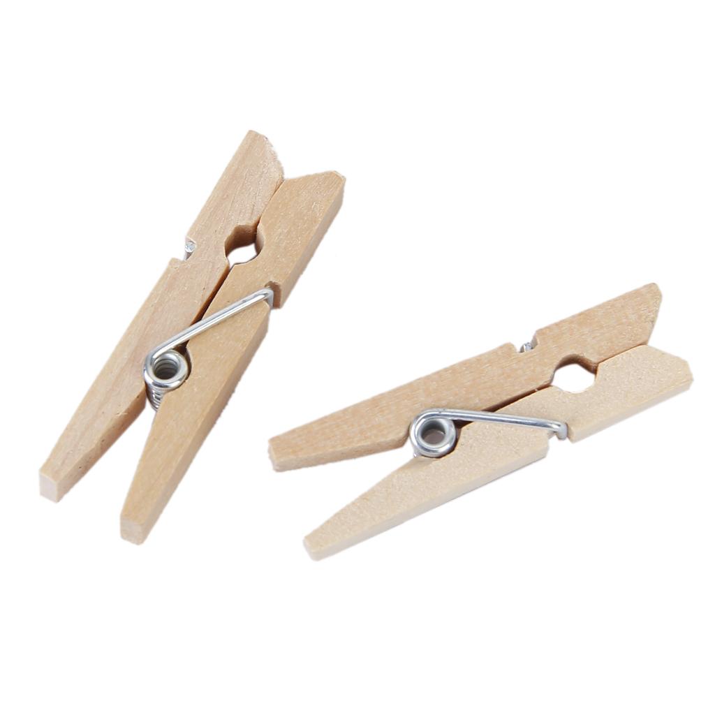50 pcs Natural Wooden Pegs Clothes Pins