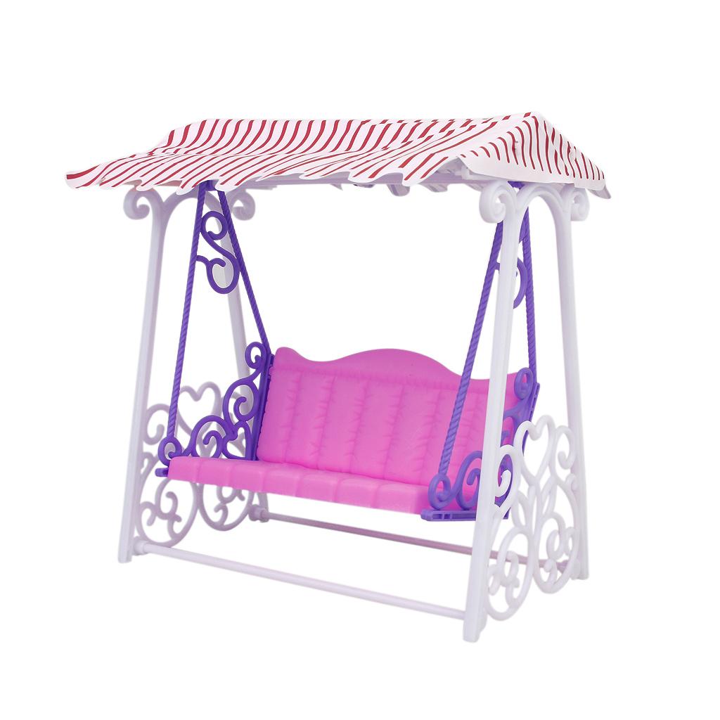 Plastic Garden Swing Play Set for Barbie Doll