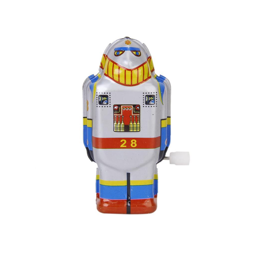 Vintage Tin Wind Up Robot Toy MS 493