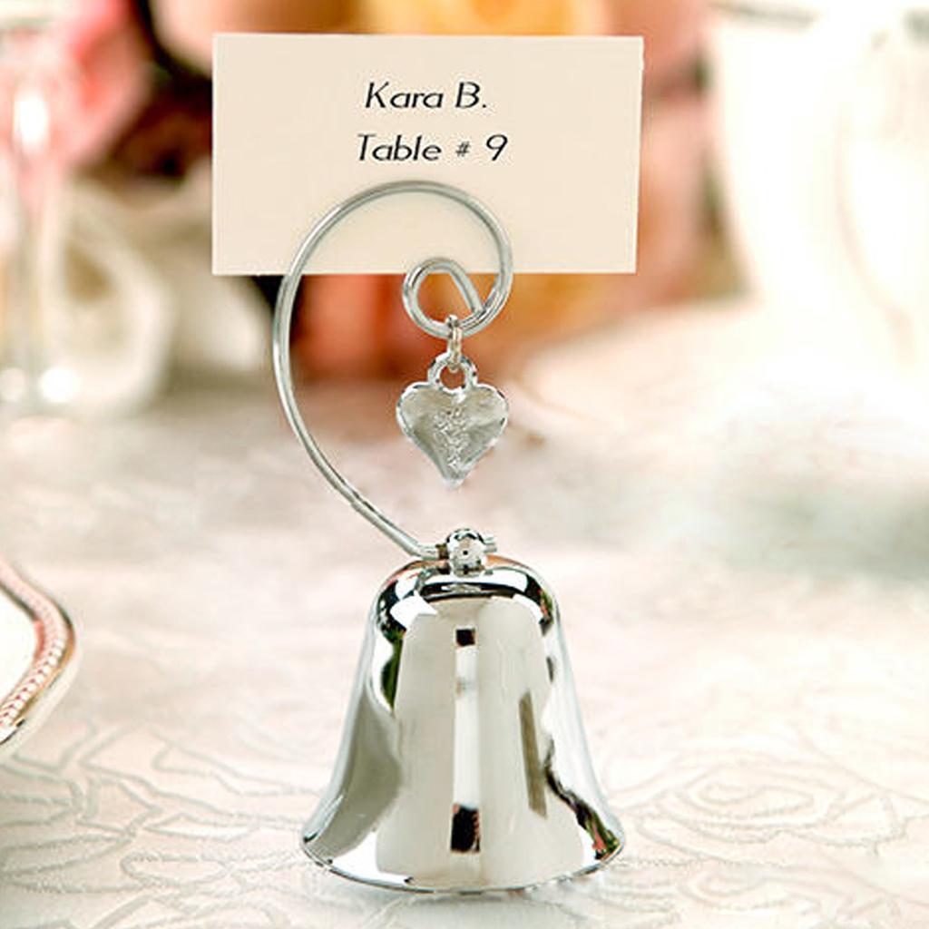 Bell Shape Place Card Holder Wedding Favors